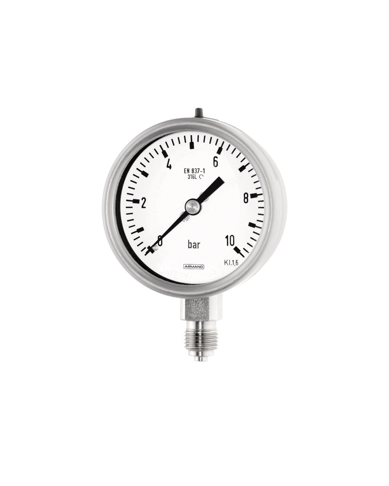 Standard pressure gauges (RCh 63 / RChG 63) bayonet ring stainless steel