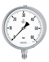 1600 Bourdon tube pressure gauges RSCh 160-3 60 bar bayonet ring case stainless steel, safety category S3 according to EN 837-1 standard pressure gauges, mechanical pressure measuring instruments, pressure metrology by Armaturenbau Manotherm