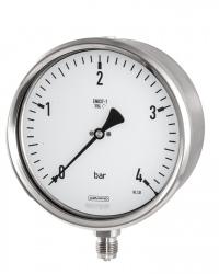 1602 Rohrfeder-Manometer RSChgG 160-3v 0-4 bar Bördelringgehäuse CrNi-Stahl,  Sicherheits-Manometer
