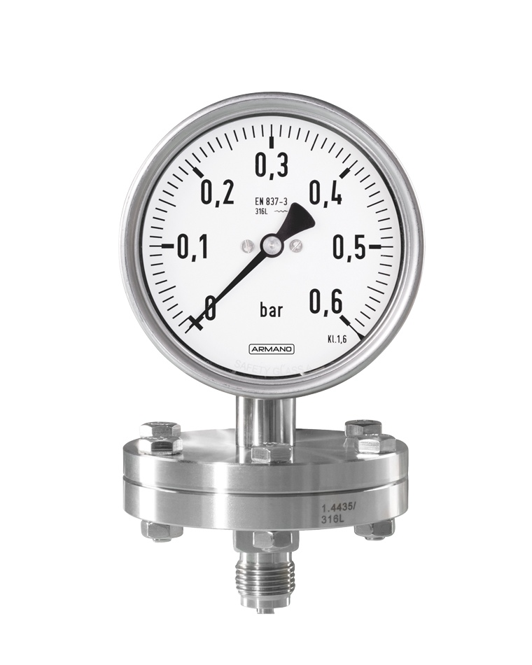 Diaphragm pressure gauges (PCh / PChG) horizontal diaphragm