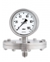 3600 Diaphragm pressure gauges PSCh 100-3 100 mbar safety category S3 bayonet ring case stainless steel 5 times overrange protected pressure measurement pressure metrology by ARMANO
