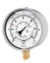 5101 Differential pressure gauges with two Bourdon tubes DiRChG 160-1 6 bar indicates two pressures plus differential pressure bayonet ring case Armaturenbau Manotherm