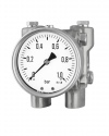 5200 Differential pressure gauges with diaphragm DiP1Ch 100-3 R 1 bar bayonet ring case Armaturenbau Manotherm