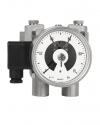 5210 Differential pressure gauges with diaphragm DiP2Ch 100-3 1 bar with limit switch contact assembly bayonet ring case Armaturenbau Manotherm