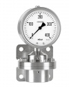 5210 Differential pressure gauges with diaphragm DiP2Ch 100-3 400 mbar bayonet ring case Armaturenbau Manotherm
