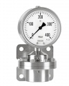 5210 Differential pressure gauges with diaphragm DiP2SCh 100-3 400 mbar safety category S3 according to EN 837-1 bayonet ring case ARMANO