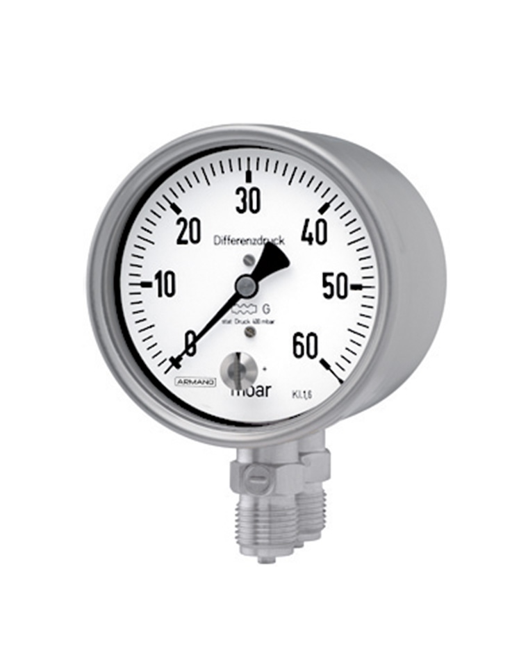 Differential pressure gauges (DiKPCh) with diaphragm capsule bayonet ring stainless steel