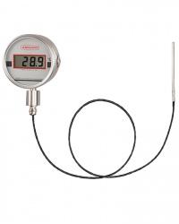 TDKCh100  Lilly Digitalthermometer mit Fernleitung Bajonettringgehäuse CrNi-Stahl 3,6 V Lithiumbatterie auswechselbar 4-stellige LCD-Anzeige