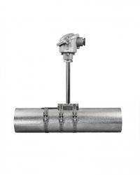 TTeO Thermoelement Rohroberflächenmessung zur Befestigung mit Edelstahlzugband Temperatureinsatzbereich bis 1175 °C