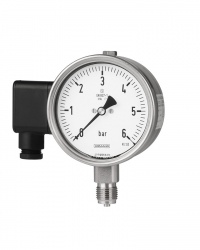 Rohrfeder Manometer mit elekt. Zusatzeinr.  RSCh100-3 10bar
