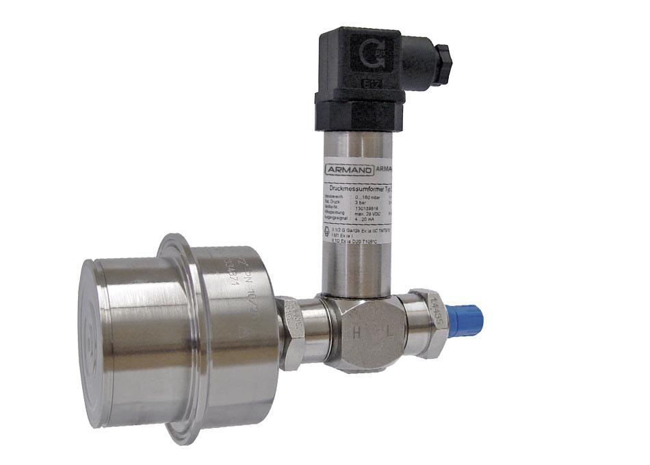 Differential pressure transmitter DiPTMEx with chemical seal Armaturenbau Manotherm